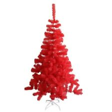 ALEKO Artificial Indoor Christmas Holiday Tree 6 Foot Dark Coral Pink