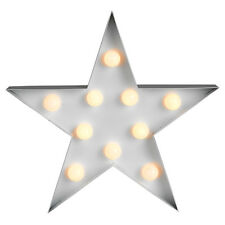 Modern Decorative LED Star Plaque Light Warm White Battery Powered Lighting Home