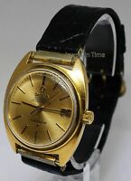 Omega Constellation Vintage Mens 18k Gold Chronometer Automatic Watch