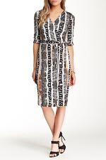 Diane von Furstenberg Julian Printed Silk Wrap Dress Sz P $365