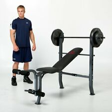 Marcy Diamond Standard Bench with 80 lb. Weight Set, Multi, 1
