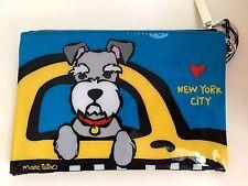 NEW YORK SCHNAUZER DOG COSMETIC PENCIL CASE TAXI NYC LOVE NY TETRO NEW YORK CITY