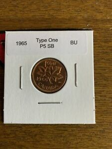 1965 Canada Small Cent  KM59.1 Variety # 1 Brilliant Uncirculated
