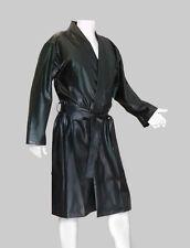 PVC  Kleidung,  Vinyl Kimono aus Weich-PVC, schwarz, Größe S