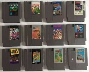 Nintendo NES Lot Of 24 Classic Games XMEN, Dr Mario etc Free Shipping