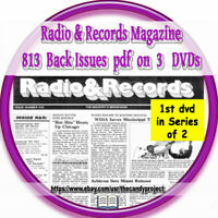 Radio -Records Magazine 813 Back Issues Like BIllboard First in a Series 3 Dvds