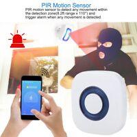 Home Security Wireless Driveway Alert Doorbell Garage Motion Sensor Detector