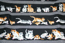 RACING CAT STRIPE FROM HI FASHION FABRICS -  100% COTTON FABRIC