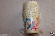 NEW WINNIE THE POOH BABY SHOWER #2   PARTY SUPPLIES 8 PAPER CUPS