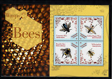 Dominica Commonwealth 2013 MNH Wasps & Bees 4v M/S Insects Yellowjacket Bumble