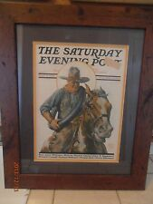 The Saturday Evening Post Print May 8, 1926 Cowboy Horse by Edgar T. Ranklin W ?
