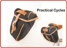 Velo Orange Croissant Bicycle Saddle Wedge Bag COTTON & LEATHER