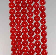 """8MM  JADE GEMSTONE GRADE A CORAL RED ROUND LOOSE BEADS 15"""""""