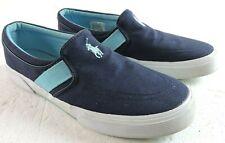 Polo Ralph Lauren Mens 8D Fakenham Canvas Slip On Casual Shoes Loafers