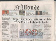 ▬► JOURNAL DE NAISSANCE / ANNIVERSAIRE Le Monde du 17 et 18 Avril 2005