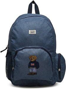 New POLO RALPH LAUREN Campus USA Polo Bear Backpack Genuine Men Boys Unisex Bag