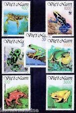 Vietnam 1991 MNH 7v, WWF, Frogs, Amphibians