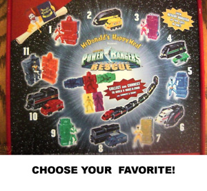 McDonald's 2000 Saban Power Rangers Lightspeed Rescue-Choose Your Figure!