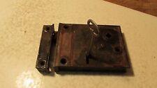 Antique Cast Iron Rim Lock & Key No. 5