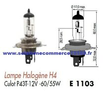 LOT 2 LAMPE HALOGENE H4 12V 12 VOLTS 55W 60W CULOT P43T AMPOULE PHARE