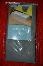 """Underbed Storage Bag Zipper Breathable Fabric Sides - Clear Top  42"""" x 18"""" x 8"""""""