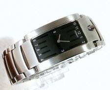 Movado Elliptica 84 C1 1481 Swiss Quartz Rectangle Black Dial Men's Watch 24mm