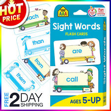 Sight Words Flash Cards For Kids Ages 5 Up Early Reading Learning Preschool