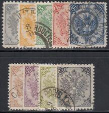 Bosnien Herzegowina 1879 Nr. 1-9 Freimarken Doppeladler gestempelt