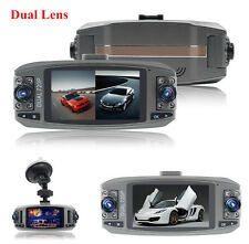 "Dual Lens 2.7"" Hd Car Auto Video Recorder Dash Cam Night Vision 120° Wide Angles"