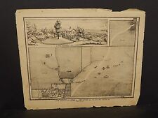Ilinois Cass County Map Farm of John A. Petefish 1874 !J14#95