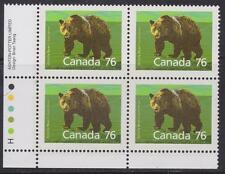 Canada 1989 #Pb1178Ll - Mammal Definitives 77¢ Grizzly Bear Mnh