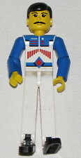 LEGO TECHNIC FIGURE BLUE ARMS AND WHITE PANTS RACE CAR DRIVER MINIFIG PERSON