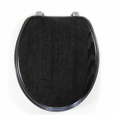 Loo With A View MOULDED TIMBER TOILET SEAT 2Pcs,Chrome Hinge CHOCOLATE*AUS Brand