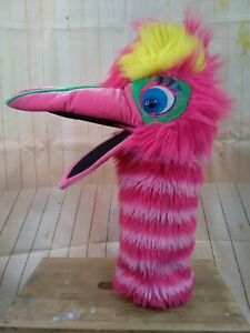 The puppet company large bright pink squeaky hand puppet