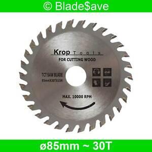 Festool Circular Saw Blade Fine Cut TCT 85mm x 15mm x 30T by KROP (2 Pack)