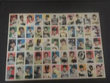 NR MT JAPANESE UNCUT BASEBALL CARD SHEET. 55 DIFFERENT PLAYERS.