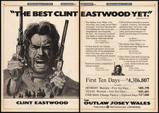 THE OUTLAW JOSEY WALES__Original 1976 Trade AD promo / poster__CLINT EASTWOOD