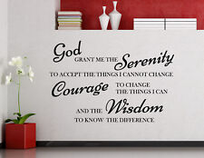 God Grant Me The Serenity Wall Decal Faith Religious Quote Vinyl Sticker 137ct