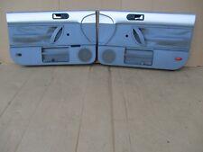 98-10 VW Volkswagen Beetle SILVER & GRAY Left Right Manual Crank Door Panel Set