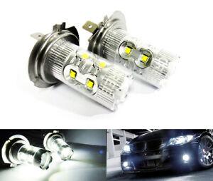 2 H7 499 LED 50W Projector Bulb White Daytime Head Light High Beam Fog Alfa UK