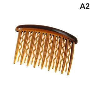 5pcs Plastic Hair Side Combs French Hair Comb Straight Teeth Hair Clip Torto J*