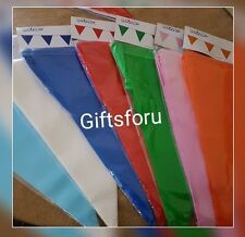 10M/20 FLAGS COLOUR BUNTING  PENNANTS FLAG PARTY DECORATIONS PARTIES NEW