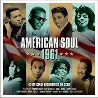 AMERICAN SOUL 1961 - MARVIN GAYE, RAY CHARLES, BEN E. KING U.A.  2 CD NEU