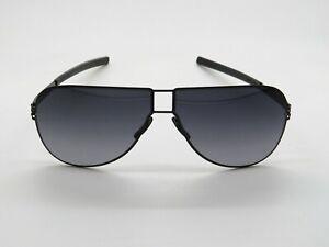 IC BERLIN Claudius H. Black/Grey Gradient Aviator 60mm Sunglasses
