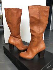 Paul Smith Womens Tan Anita Knee High Boots Size 38 Uk 5