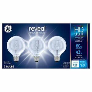 GE Reveal 43-Watt Energy Efficient Decorative Halogen Light Bulb (3pk)
