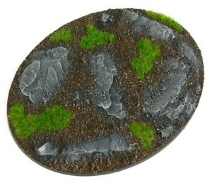 Rocks - Oval Resin Bases 120mm - 1 Painted/Unpainted Base for Warhammer
