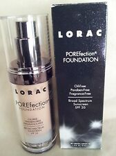 LORAC POREFECTION FOUNDATION MAKEUP SPF 20 OIL FRAGRANCE FREE PR3 LIGHT BEIGE