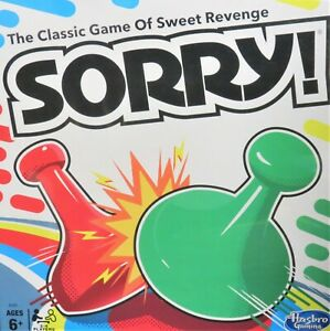 Hasbro Sorry Family Board Game NEW! Age 6 up Classic Game of Revenge 2- 4 player