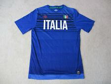 Umbro Italy Soccer Jersey Adult Medium Blue White Italia Futbol Football Mens *
